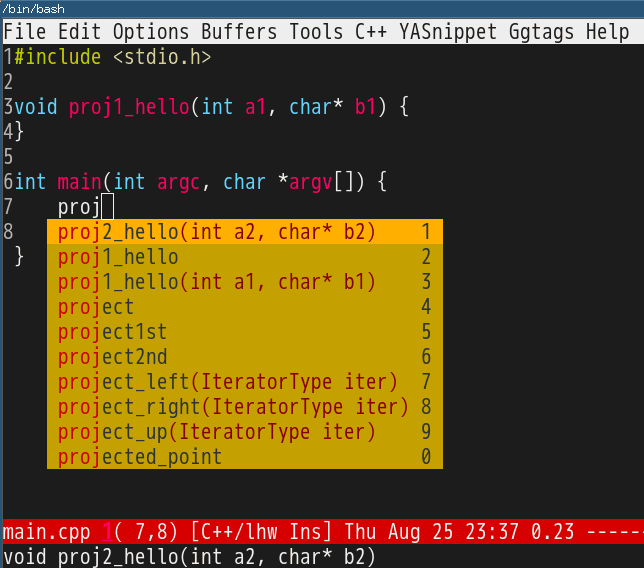 Emacs as C++ IDE, easy way | Chen's blog